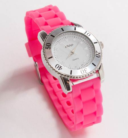 watch 500b3 3cd9f American Eagle/アメリカンイーグル/レディース/時計:AE Pink Rubber Watch - Pink