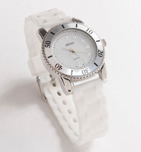 low priced 5614c b0c31 American Eagle/アメリカンイーグル/レディース/時計:AE Pink Rubber Watch - White