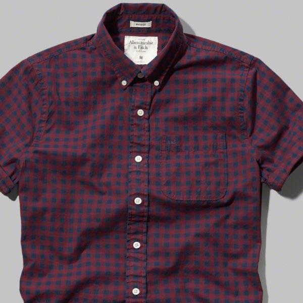 アバクロ新作半袖シャツ