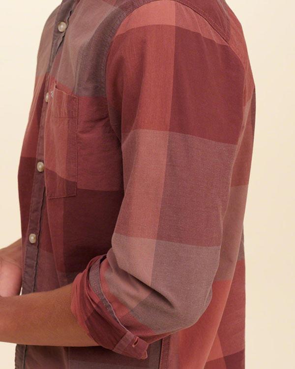 ホリスター新作チェック柄シャツ/ボタンダウンシャツ